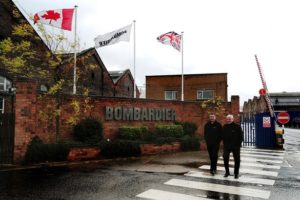 UK manufacturer exporter Bombardier-main-entrance-in-Derby